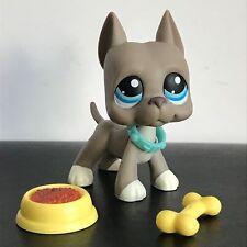 Hasbro littlest pet shop collection LPS figure great dane Dog #184&yellow bone