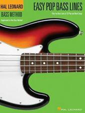Hal Leonard Guitar Method: Easy Pop Bass Lines