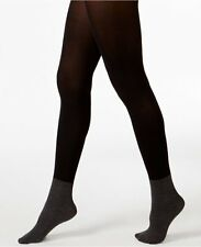 DKNY Fashion Tights Sz Small Black Flannel Melange Anklet Sock Tight 0C177