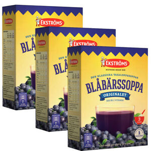 Ekströms Blåbärssoppa Blueberry Soup 3x465 gram Made in Sweden