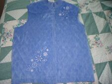 Woman's size 14 Blue Quilted Vest w Embroidery by  Alfred Dunner