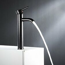 Bathroom Sink Faucet Lavatory Black Bronze Single Handle Vessel Stainless Steel