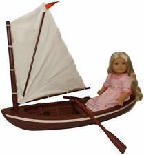 American Girl Caroline's Skiff Canoe Oars Wood Retired Brand New!  NO Doll!