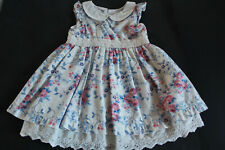 PUMPKIN PATCH baby girl's pretty cotton dress with underskirt. Age 0-3 months.