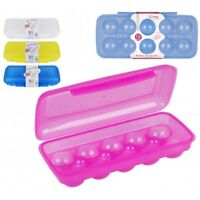 10 Eggs Box Case Plastic Portable Carry Case Storage Tray Holder Container Box