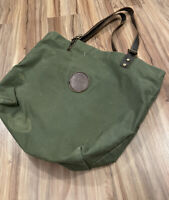 Duluth Pack Market Tote Olive Green Canvas Cotton Bag Purse Carry Leather