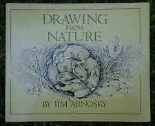 Jim Arnosky Drawing From Nature First Edition Hardcover ~ FREE SHIPPING