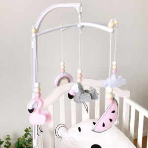 Baby Bed Mobile Crib Bell Nursery Toys Flamingo Felt Cotton Hanging Cot Rattles