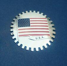 "USA  FLAG CAR GRILL US BADGE 3D CHROME EMBLEM Big ~4""or 99.8 mm"