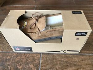 Los Angels Chargers NFL Moccasin Slipper Tan Size 11-12