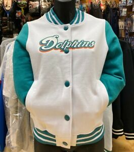 Miami Dolphins Cotton Bomber Jacket - Women's Size 12 - New With Tags