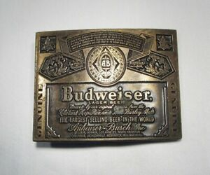 Estate Vintage Large Budweiser Belt Buckle C2523