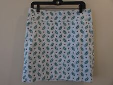 Ann Taylor Size 6 Blue Green Floral Straight Pencil Skirt Fully Lined w/ Pockets
