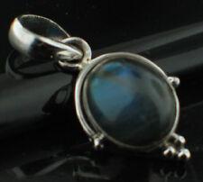 Gorgeous Labradorite Sterling Silver Polished Cabochon Pendant .925 Boho, hippy