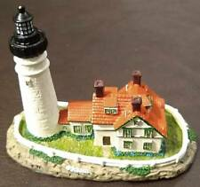 "Scaasis Miniature Lighthouse - Portland Head, Me - 3¼"" X 4"" - Ex"