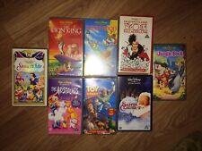 JOB LOT OF 8 VINTAGE/RETRO WALT DISNEY CLASSIC FILM VHS VIDEO TAPES (EX COND)