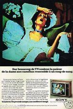 Publicité advertising 1976 Téléviseur Télévison Sony couleur