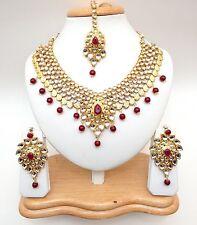 Indian Asian Bridal Jewellery Bollywood Party Ethnic Wear Kundan Necklace Set