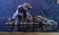 Chiots miniatures en régule vers 1900 style bronze de Vienne!!!!