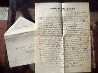 1944 148) LETTERA DEL GIORNALISTA ACHILLE BENEDETTI INCARCERATO DA NAZIFASCISTI