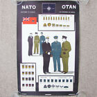 NATO Military Uniforms of Canada Poster Ranks & Badges 1962 War Office Army Navy
