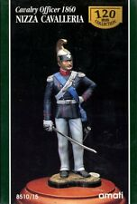 AMATI 120mm Cavalry Officer 1860 Nizza Cavalleria Resin Figure Kit #8510/15