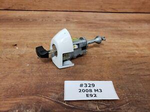 ✅07-13 OEM BMW E92 E93 M3 Left Driver Door Lock Key Cylinder Mechanism White 300