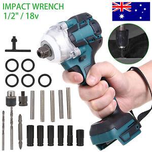 520Nm Cordless Impact Wrench Brushless Rattle Gun 1/2''  Drive & Lithium Battery