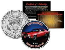 1970 CHEVROLET CHEVELLE SS 427 LS6 Expensive Muscle Car JFK Half Dollar US Coin