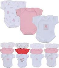 BabyPrem Baby Pack of 3 Girls Bodysuits Premature Clothes 0-7.5lb Pink