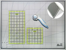 Quilting Ruler Foldable A2 Cutting Mat Set for Crafts Fabric +FREE Rotary Cutter