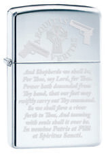 Boondocks Saints Aequtias Veritas Shepherd Family Prayer Zippo Lighter Chrome