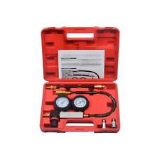Engine Cylinder Leak Down Compression Tester Dual Gauge Leakage Detector Kit