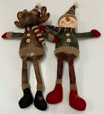 Holiday Shelf Sitters Pack of 2 Snowman and Reindeer - (Damage/Read)