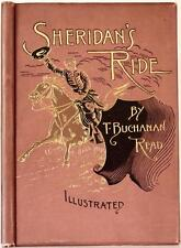 RARE 1891 SHERIDAN'S RIDE CIVIL WAR ABRAHAM LINCOLN ILLUSTRATED NEAR FINE