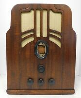 1935/36 Philco Model 610 Tombstone Radio Absolutely Beautiful Working Read On