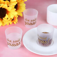 6Pcs She Said Yaaas Drinking Cups Bridal Shower Bachelorette Party Gift Gy