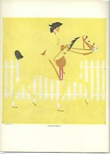 Coles Phillips FADEAWAY GIRL Thoroughbreds Horse Antique Print
