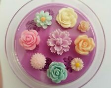 ROSE DAISY FLORAL SET SILICONE MOULD FOR CAKE TOPPERS, CLAY ETC