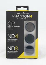 PolarPro Filter 3er Pack für Drohne DJI Phantom 4 ND4 ND8 Neutraldichte / CPL