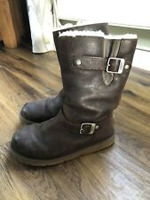 Ladies Genuine Kensington Ugg Leather boots Size UK 5 (5.5) 38 Brown
