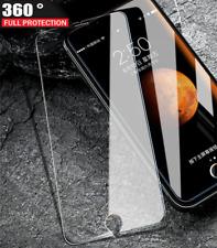 Para iPhone X-a prueba de golpes híbrido de 360 Pantalla de Cristal Funda De Silicona-Claro Como El Cristal