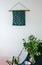 Wall Hanging Macrame, Color Woven Tapestry, Boho Decor, Geomatric Fiber Art, Ho