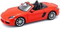 Porsche 718 Boxter 1:24 Diecast Model Orange - Bburago - 21087OR *