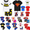 Kids Boys 2PCS Superhero Pajama Set Short Sleeve T-shirt + Shorts Outfits Summer