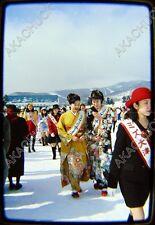 135 Original Slide SAPPORO JAPAN SNOW FESTIVAL Ice Sculpture BEAUTY CONTEST 1997
