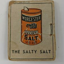 """Vintage """"Worchester Salt"""" Needle and Thead Case Book Vintage Advertising"""