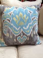 """Home Accent/Moonstone Blue/Gray ikat Pillow Cover/25.00 ea.4 Available  20"""" x 20"""