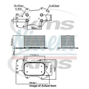 New Genuine NISSENS Engine Oil Cooler 90910 Top Quality