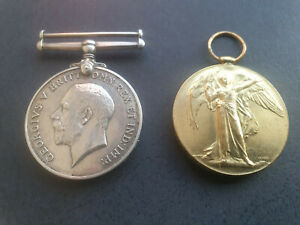 WW1 Medal Pair (PTE T. J. O'Neill Royal Scots) (K.I.A Gallipoli)